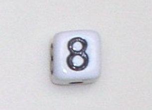 12mm x 12mm Cube Alphabet Beads -8