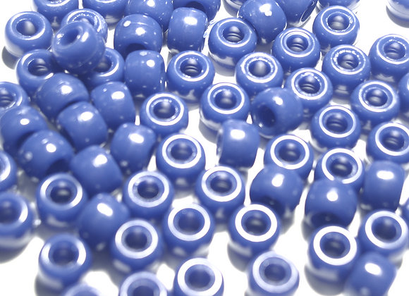 Opaque Country Blue Pony Beads