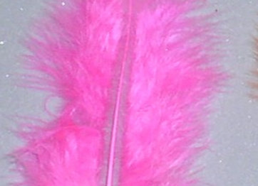"Hot Pink Flats Feathers (5""to 7"")"