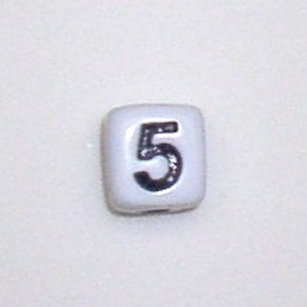 12mm x 12mm Cube Alphabet Beads -5