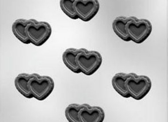 "1 7/8"" Double Filigree Heart Chocolate Mold"