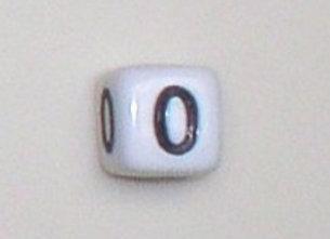 12mm x 12mm Cube Alphabet Beads - 0