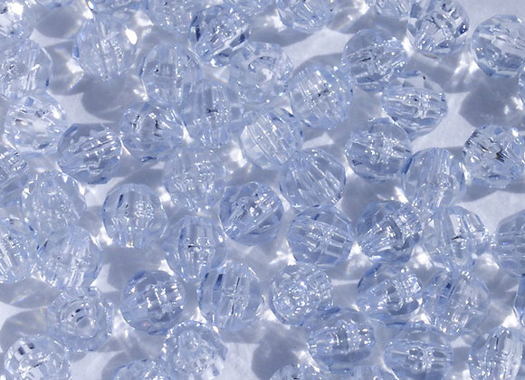 Transparent Ice Blue 8mm Faceted Beads