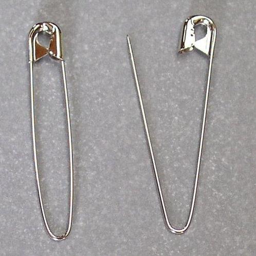 "Bulk 2.25"" Silver Coiless Safety Pins"
