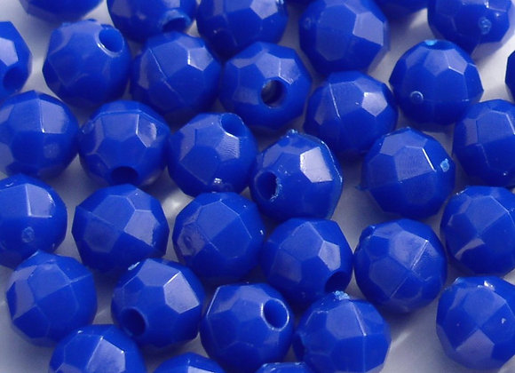 Opaque  Royal Blue 6mm Faceted Beads