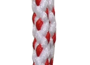 6mm Braided Macramé Cord - Red/White