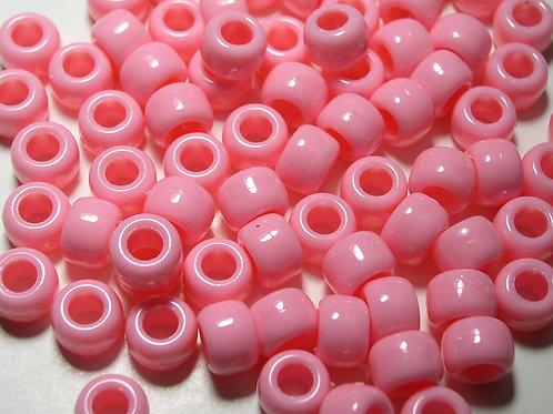 Opaque Pink Pony Beads