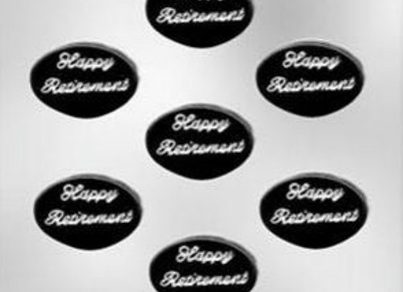 Retirement Oval Mint Chocolate Mold