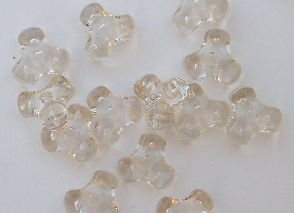 Transparent Light Champagne Tri Beads