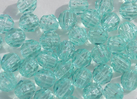 Transparent Sea Mint 4mm Faceted Beads