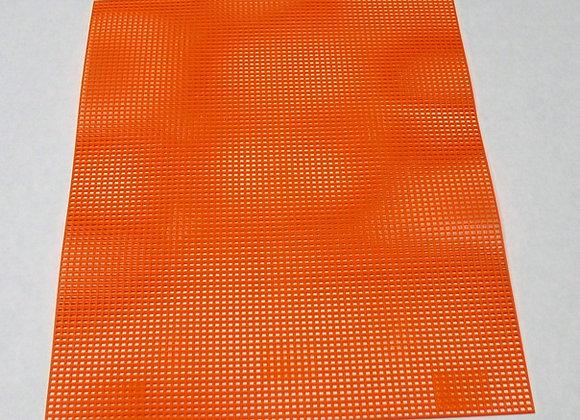 7 mesh Orange Plastic Canvas
