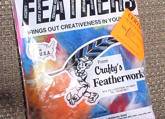 """Assorted Marabou Feathers (5""""to 6"""")"""