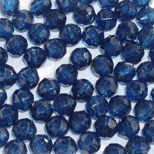 Transparent Midnight Blue 4mm Faceted Beads