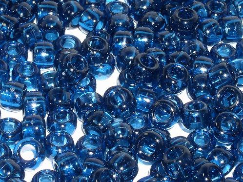 Transparent Midnight Blue Pony Beads