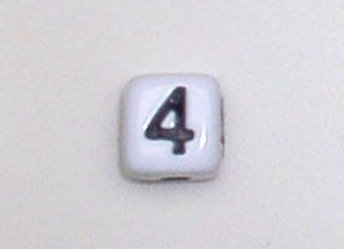 12mm x 12mm Cube Alphabet Beads -4