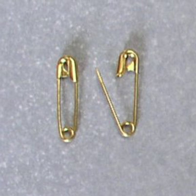 "Size #4  2 1/4"" Gold Safety Pins"