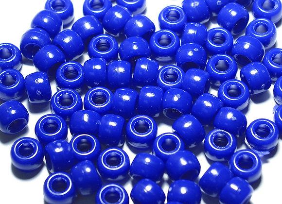 Opaque Royal Blue Pony Beads