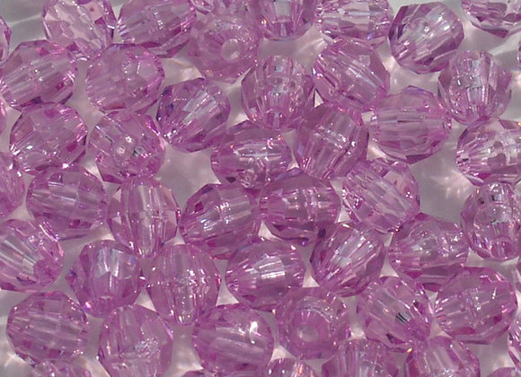 Transparent Light Amethyst 8mm Faceted Beads