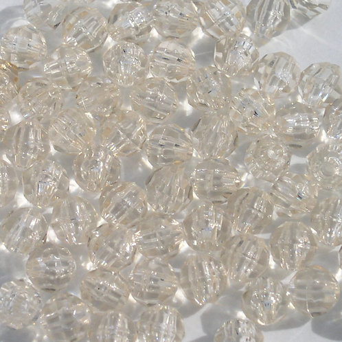 Transparent Champagne 8mm Faceted Beads