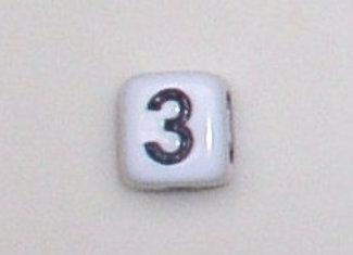 12mm x 12mm Cube Alphabet Beads -3