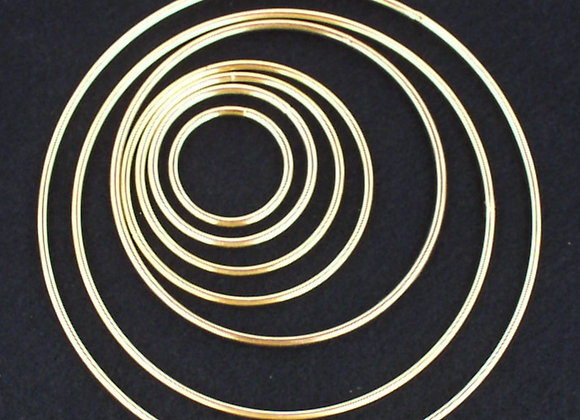 Brass Plated Metal Rings