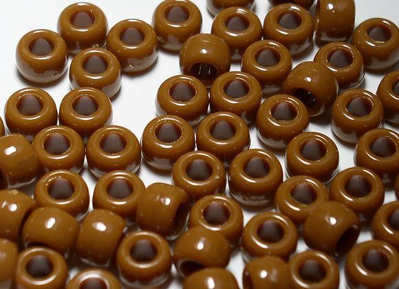 Opaque Meduim Brown Pony Beads