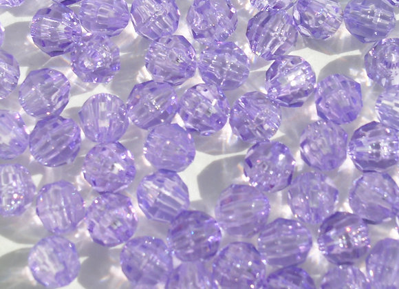 Transparent Amethyst 10mm Faceted Beads