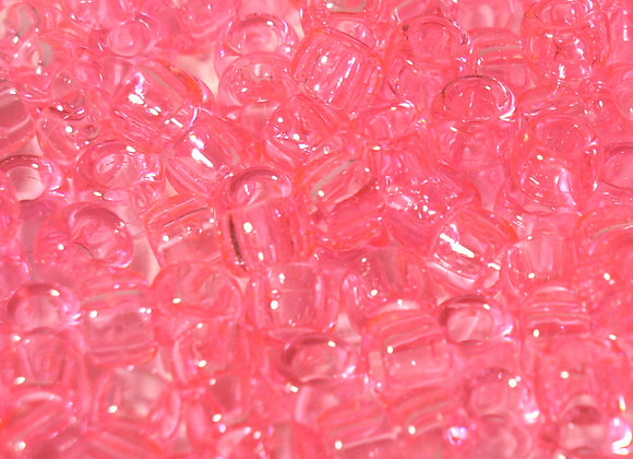 Transparent Pink Pony Beads