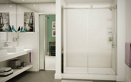 tub to shower conversion modern shower