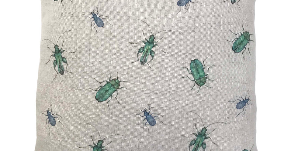 Scattered Beetles Cushion Cover
