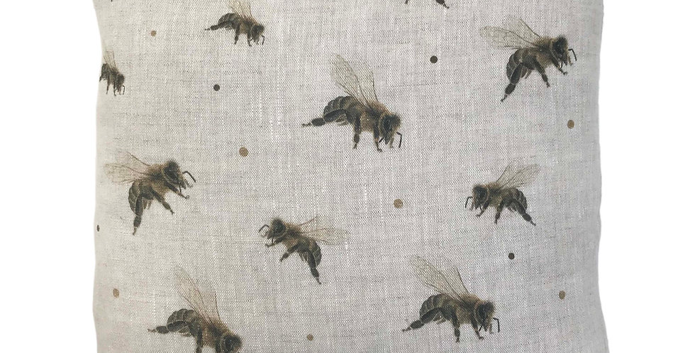 Scattered Honey Bees Cushion Cover