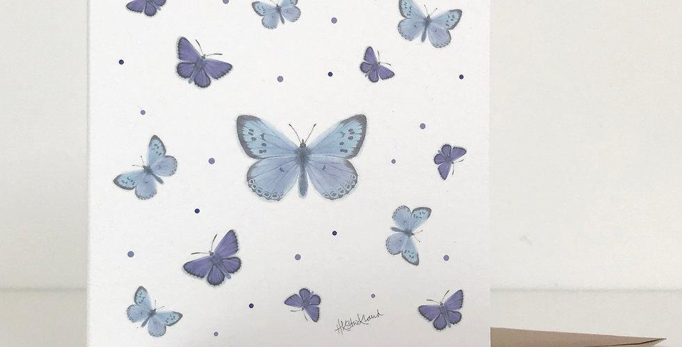 Scattered Butterflies card