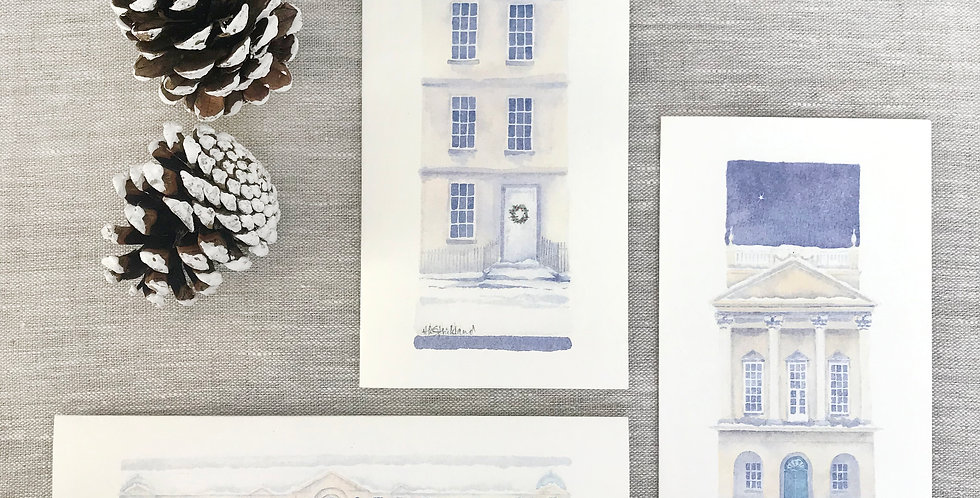 Bath Christmas Cards - pack of three