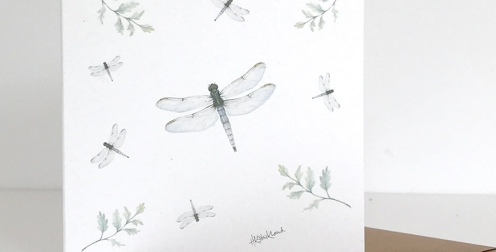 Scattered Dragonflies card