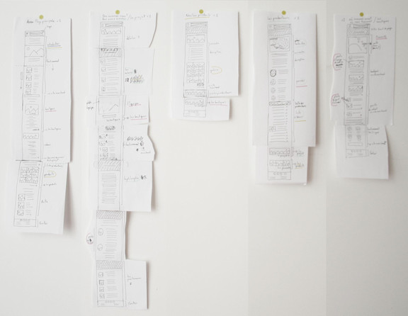 Paper wireframe for Kelbongoo's mobile website