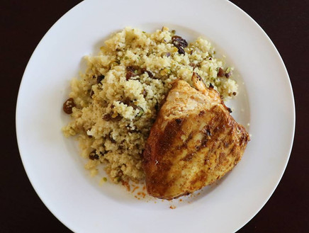 Golden Raisin and Pistachio Couscous