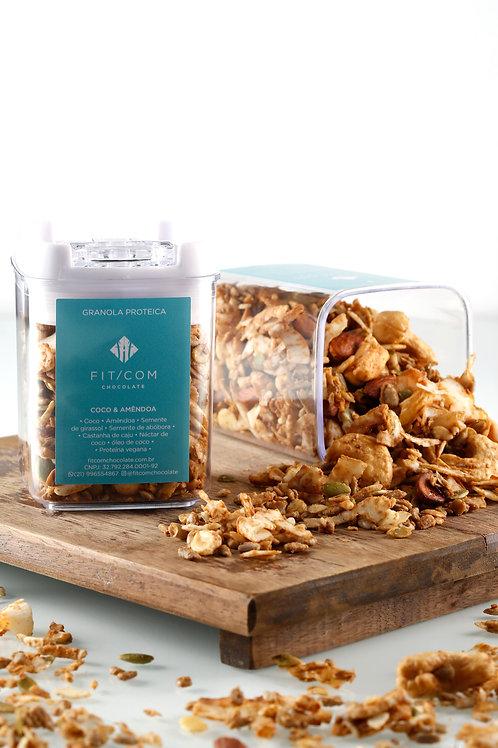 Granola Coco&Amêndoa (Pote Hermético P)