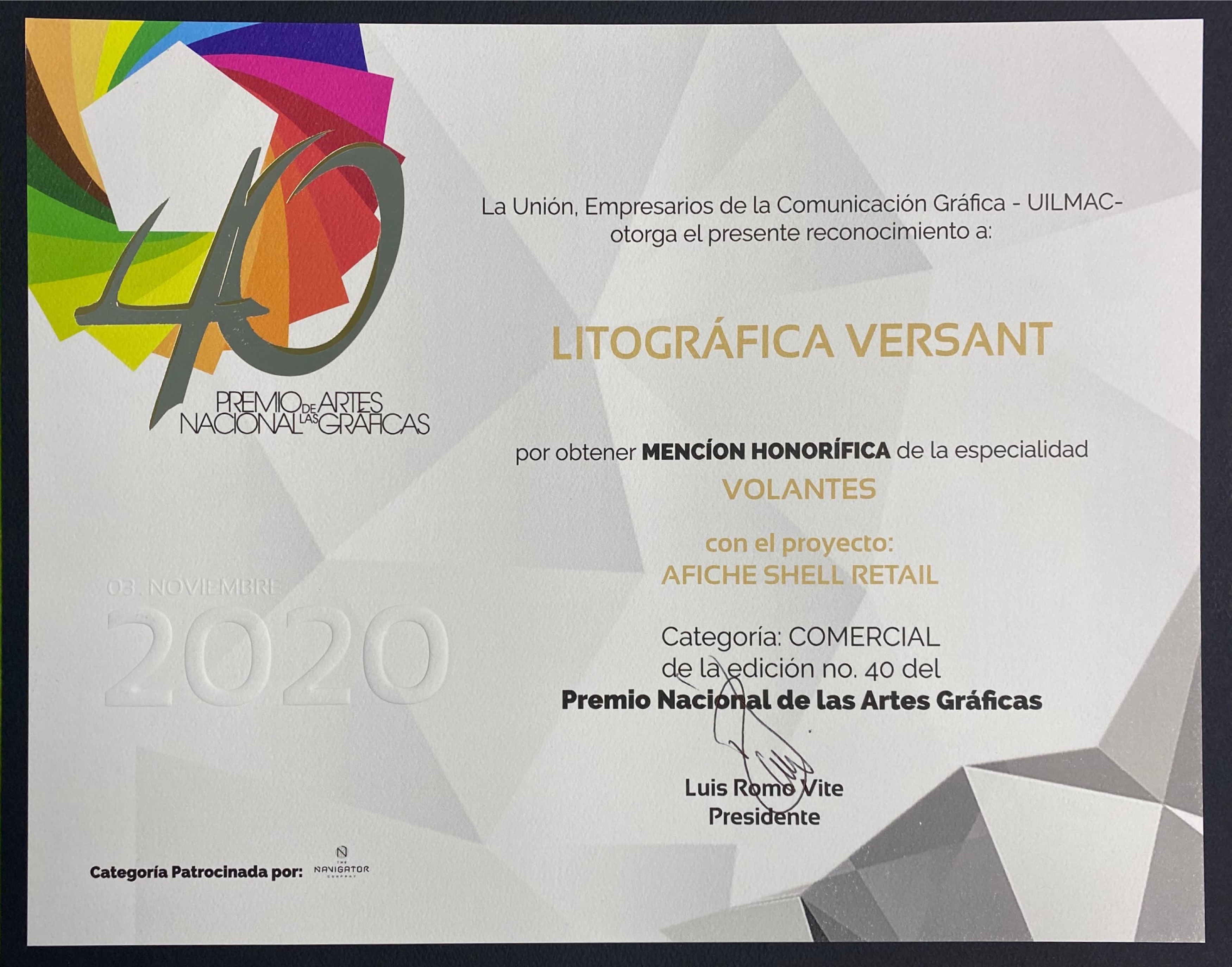 Mención Honorífica PNAG 2020