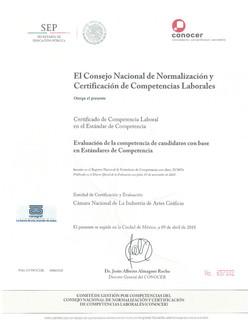 Certificado Competencia Laboral 2018