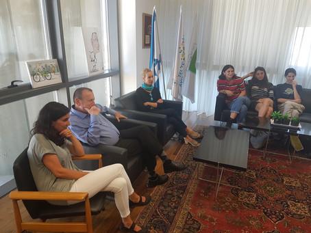"""מגמת מחול במפגש הוקרה עם ראש עיריית ת""""א"""