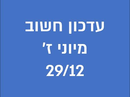 עדכון מיוני ז' 29/12