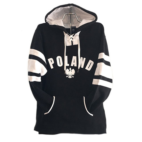 Polish Hoodie, Hockey Black with White