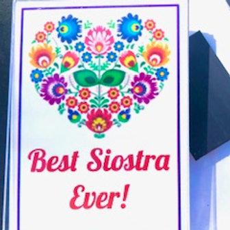 Polish Acrylic Magnet – Siostra (Sister)