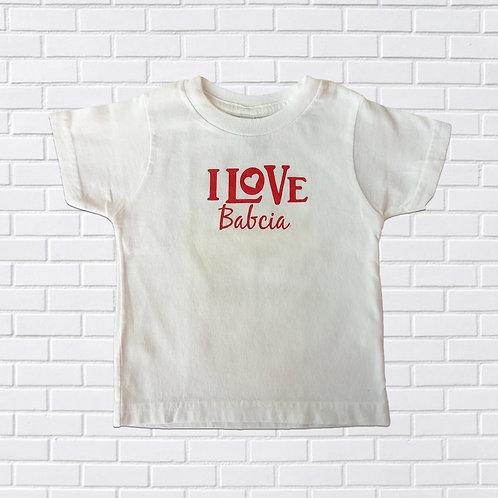 I Love Babcia T-Shirt, Infants & Childrens
