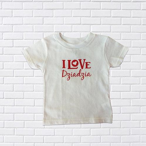 I Love DziaDzia T-Shirt, Infants & Childrens
