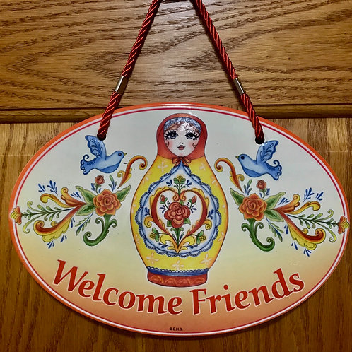 Polish Welcome Sign, Nesting Doll