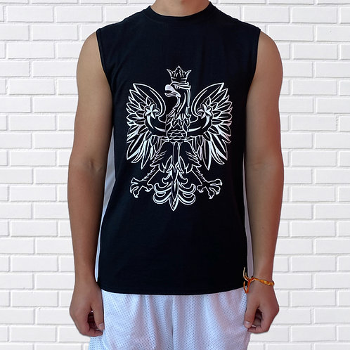 Polish Eagle T-Shirt, Sleeveless, Black or Red