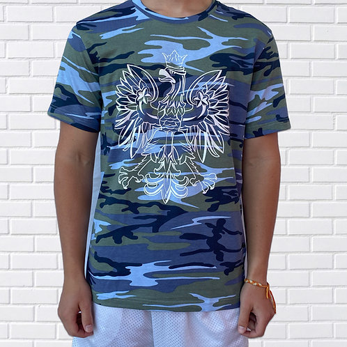 Polish Eagle T-Shirt, Camouflage, Green or Blue