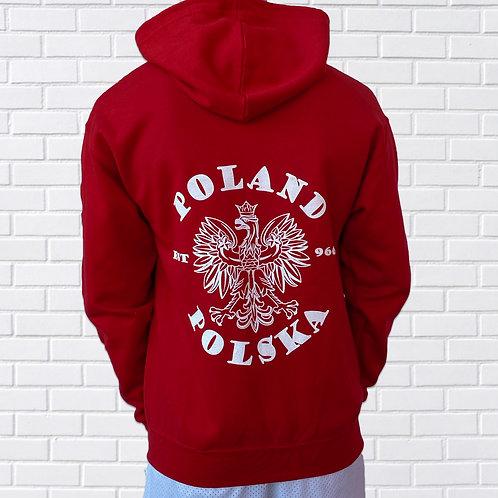 Poland/Polska Zip Up Hoodie