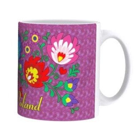 Polish Mug, Wycinanki Purple